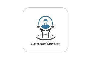 Customer Service Icon. Business Concept.