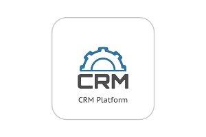 CRM Platform Icon. Flat Design.