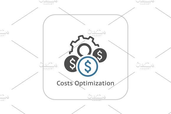 Costs Optimization Icon Flat Design