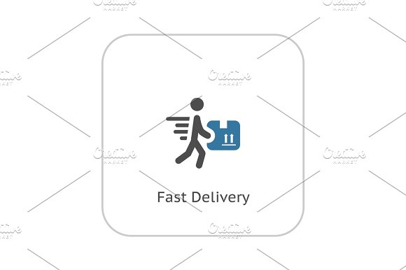 Fast Delivery Icon Flat Design
