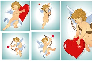 Valentine Cupids Vectors