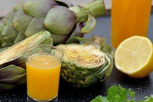 Artichoke and orange juice