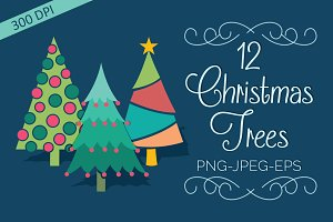 Christmas Tree Elements Set