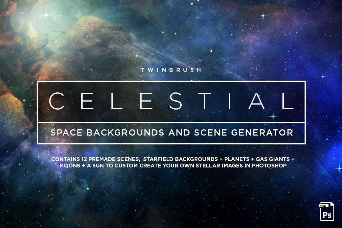 celestial space backgrounds pack graphics creative market
