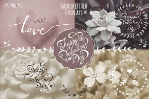 Valentine's Day Overlays & Lettering