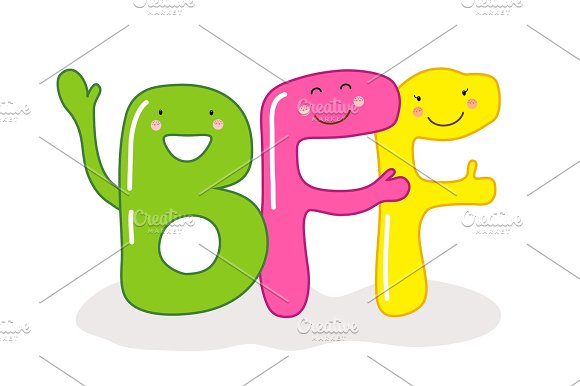 3 Letter Cartoon Characters : Friends forever designtube creative design content
