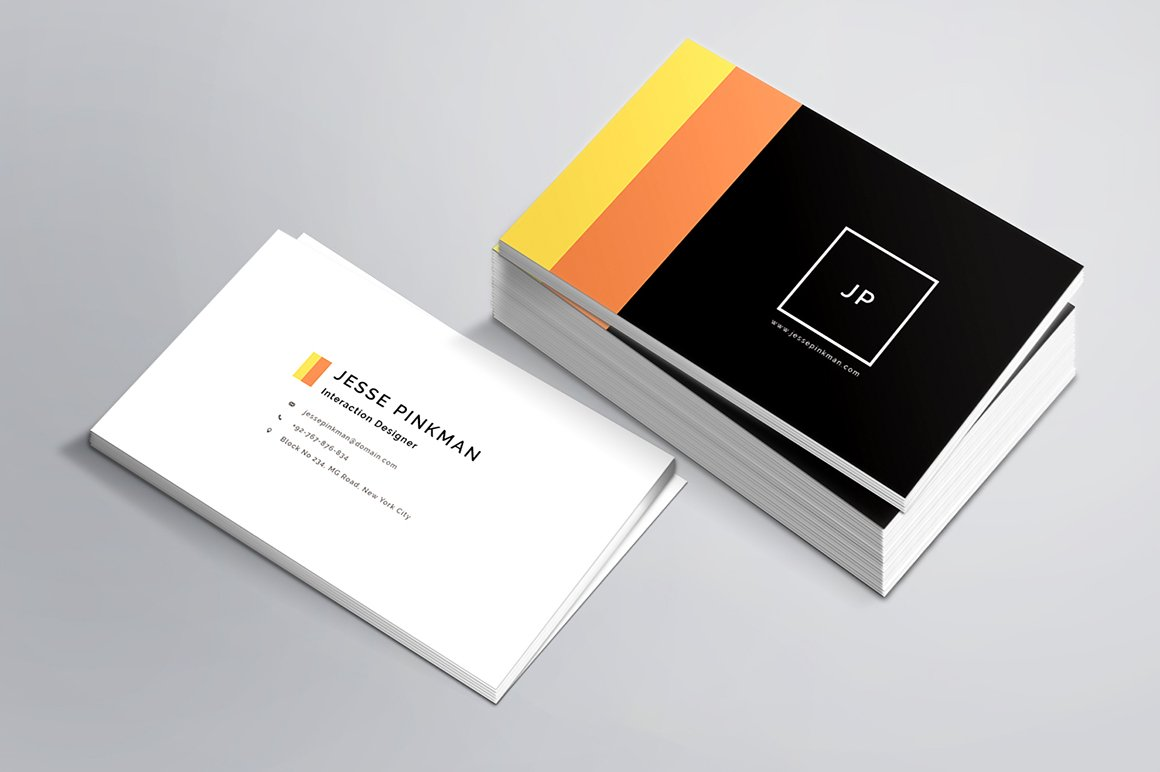 Simple transparent business card business card templates personal business card template wajeb Gallery