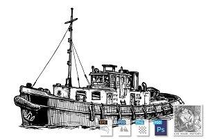 Small motor ship