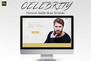 Celebrity - Adobe Muse Template