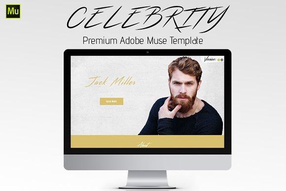 Celebrity Adobe Muse Template