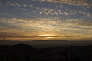 California Sunset Orange Sky