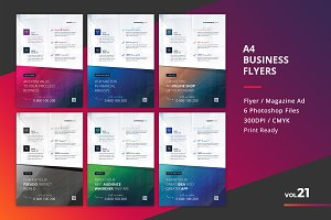 Corporate Flyer Templates 6PSD - #21