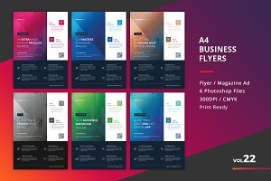 Corporate Flyer Templates 6PSD - #22
