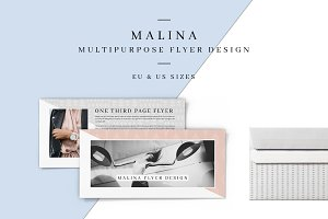 MALINA One Third Page Flyer +Pattern