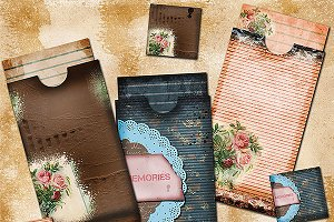 Junk Journal Digital Envelopes