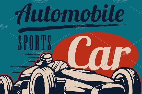 Retro Sport Car Race