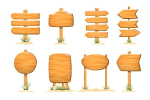 Collection of wooden templates