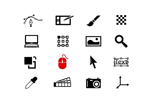 COMPUTER GRAPHIC Vector Icons
