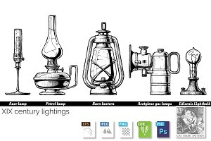 XIX century lightings
