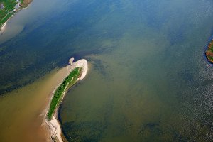 aerial photography  of Koos in baltic sea