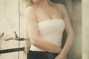 Portrait of pretty woman