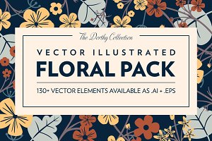 Vector Illustrated Floral Pack