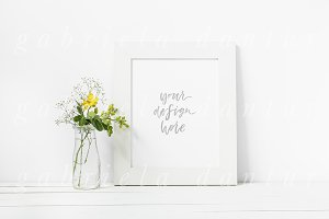 Yellow Flower Frame Mockup