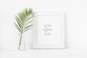 Palm Leaf Tropical Frame Mockup