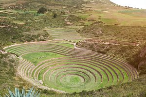 Sacred valley Moray in Peru