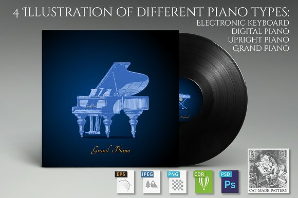 4 Illustration Of Different Piano