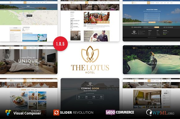 Lotus Hotel Booking WordPressTheme