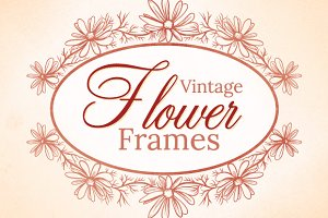 Vintage Flower Frames