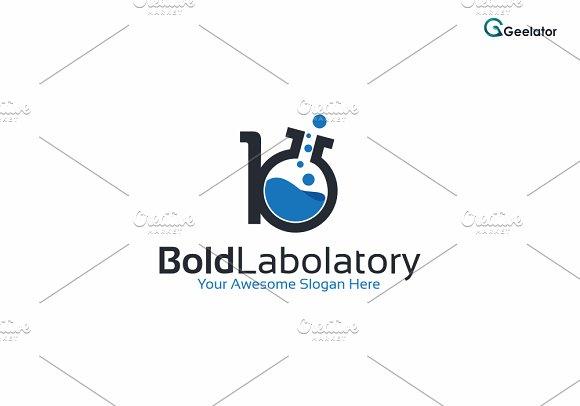 Letter B Lab Logo Template
