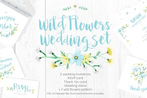 Wild Flowers Wedding Set