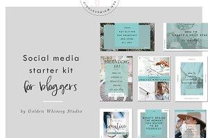 Blogger's social media starter kit