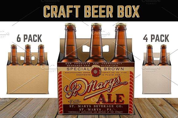 Free 6 Pack & 4 Pack Beer Box: 3 Views