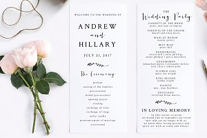 Wedding Program - Editable PDF