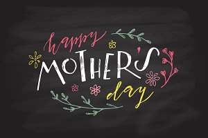 Happy Mother's Day Lettering Typogra