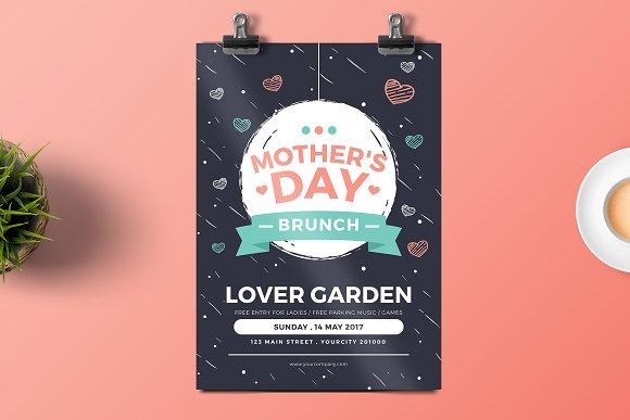 mother s day brunch flyer templates creative market