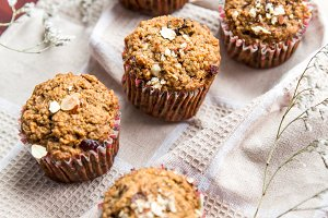 Carrot cupcakes with oat flour