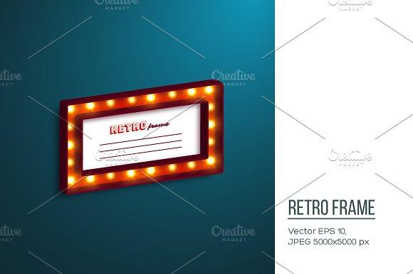 Realistic 3D Retro Frame