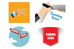 4 Coming Soon Business Signs