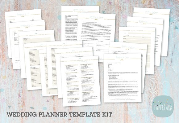 ng030 wedding planner forms stationery templates creative market