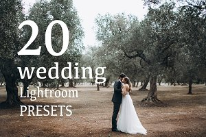 TOP20 WEDDING Lightroom Presets 2017