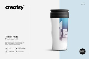Travel Mug Mockup Set