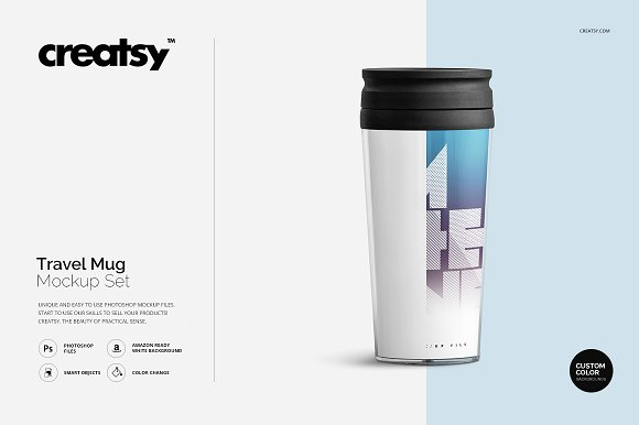 Free Travel Mug Mockup Set