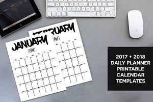 Planner Calendar 2017 & 2018