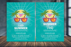 Vintage Summer Party Flyer Template