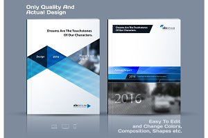 Business vector template. Brochure design, cover modern layout,