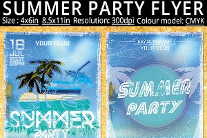 Summer Party Flyer Poster